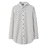 A-HXTM Camisa con Estampado de Moda Blusa de Mujer Blusas y Blusas de Manga Larga Camisa Casual de Estilo Largo Ropa de Dama 5XL se Aplica al Trabajo Negocios o Uso Diario etc.-XXXL_1