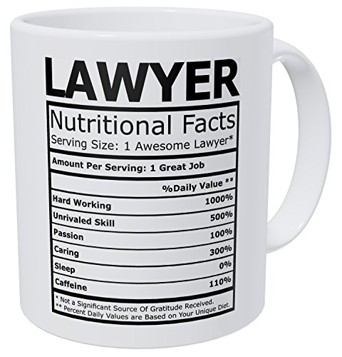 Wampumtuk Lawyer Attorney Nutritional Facts Funny Coffee Mug 11 Ounces Inspirational And Motivational