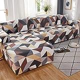 WXQY Fundas con Motivos Florales Fundas elásticas elásticas Funda de sofá Antideslizante Funda de sofá para Mascotas Esquina en Forma de L Funda de sofá Antideslizante A24 1 Plaza