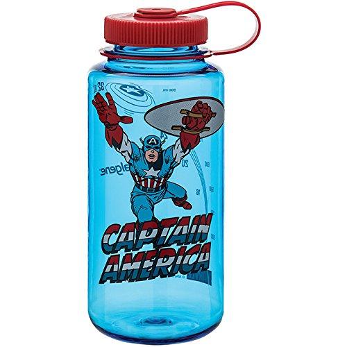 32 oz Clear Nalgene Wm 1 Quantity Black Panther Bottle /& Lid