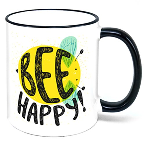 Bee Happy Coffee Mug be happy bee gift