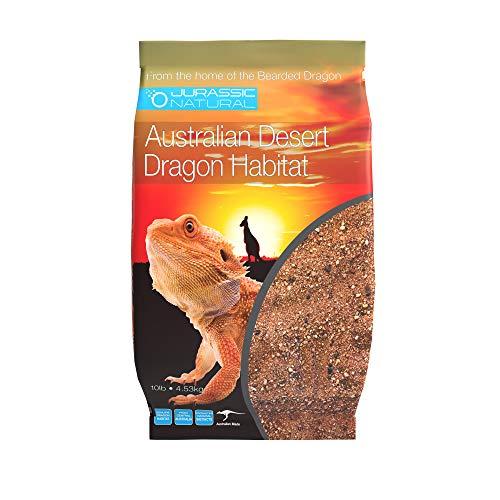 JurassicNatural Australian Desert Dragon Habitat 10lb Substrate for Bearded Dragons and Other Lizards, Red (DESERT010)