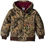Carhartt Girls' Big Flannel Lined Jacket Coat, Mossy Oak camo, Medium