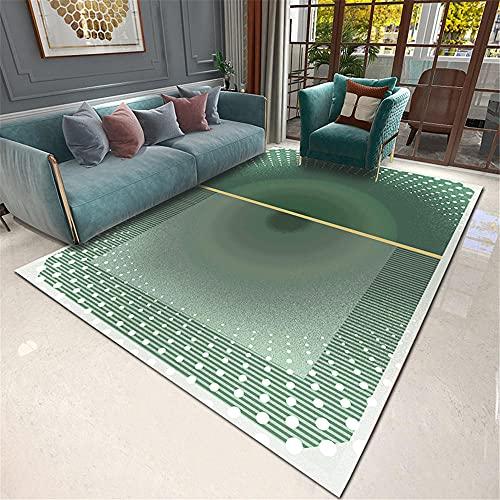 Teppich Teppich rund Wohnzimmer Gradient grün geometrische Design Wohnzimmer Teppich Inneneinrichtung Zubehör kinderteppich waschbar deko jugendzimmer 60*160cm