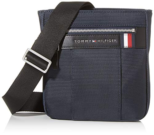 Tommy Hilfiger - Elevated Nylon Mini Crossover, Bolso bandolera Hombre, Azul (Sky Captain), 1x1x1 cm (W x H L)