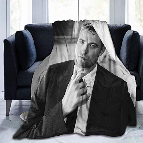 Robert Pattinson Decke für Kinder und Erwachsene, ultraweich, Micro-Fleece-Decke, Überwurf, alle Jahreszeiten, flauschig, leicht, Decken Büro, Firma, Zuhause, Couch, Bett, Sofa, 127 cm x 40