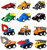 Pull Back Cars, Toys for 2 3 4 5 Year Old Boys Toddlers, WINONE 12 Pack Kids Toys Vehicles and Racing Cars for Easter Egg Filler, Stocking Stuffers,, Party Favors for Kids