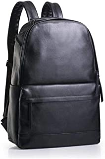 Fashion Backpack School Bags and Genuine Leather Backpack Large-Capacity Casual Backpack Travel Bag (Color : Black, Size : 18 Inches)
