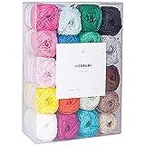 Rico Design Creative Ricorumi - Juego de 20 colores, 25 g, hilo de ganchillo, hilo de algodón, hilo para punto y manualidades