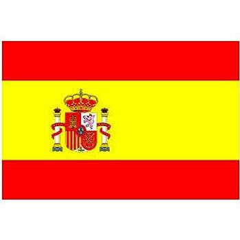Bandera de España (con cresta) 1.524m x 0.9144m: Amazon.es: Hogar