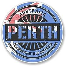 3 Pack - Perth Australia Vinyl SELF ADHESIVE STICKER Decal - Sticker Graphic - Construction Toolbox, Hardhat, Lunchbox, Helmet, Mechanic, Luggage