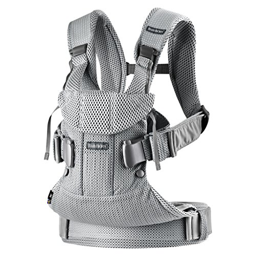 BabyBjörn New Baby Carrier One Air 2019 Edition, Mesh, Silver, One Size