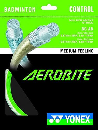 YONEX Aerobite - 10m Set Grün - Badmintonsaite, Badmintonstring
