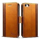 iPhone SE ケース [第2世代] 手帳型 iPhone8 ケース Rssviss アイフォン7 ケース iPhone 8 ケース ワイヤレス充電対応 マグネット W3 ブラウン(iPhone8&iPhone7対応)【4.7inch】