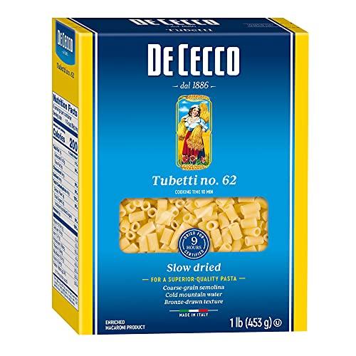 De Cecco Tubetti Pasta Only $1.06 Per Box Shipped