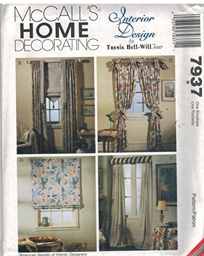 7937 Uncut McCalls Sewing Pattern Home Decor Window Treatments Curtains Roman Shades Trenia Bell-Will