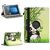 NAmobile Tablet Tasche kompatibel für Wortmann Terra Pad 1006 Schutzhülle aus hochwertigem Kunstleder Universal Hülle Standfunktion 360 Drehbar, Farben:Motiv 14