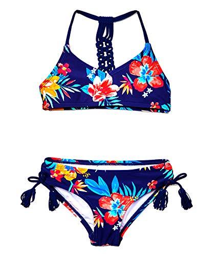 Kanu Surf Willow V-Neck Bikini Beach Sport 2-Piece Swimsuit Traje de baño de Dos Piezas, Brooke Azul Marino, 2 años para Niñas