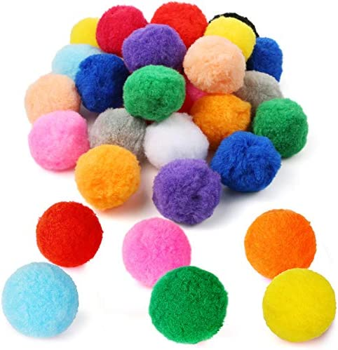 Pllieay 30pcs 15 Colors 2 4 Inch Very Large Assorted Pom Poms Arts and Crafts for DIY Creative product image