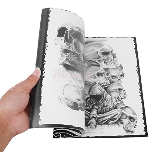 76 Pages Selected Skull Design Sketch Flash Book Tattoo Art Supplies A4