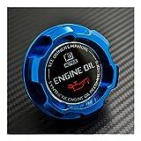 PUGONGYING Popular La Nueva Tapa de Aceite del Motor de Aluminio se Ajusta a Toyota Corolla Levin Celica GTS Trueno AE86 Matrix MR2 Yaris XRS SIION Camry Durable (Color : Blue)