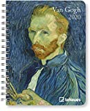 Van Gogh - Buchkalender Deluxe 2020 - Kalenderbuch A5 - Taschenkalender - teNeues-Verlag - National Geografic - Taschenplaner mit Spiralbindung - 16,5 cm x 21,6 cm - Kunstkalender