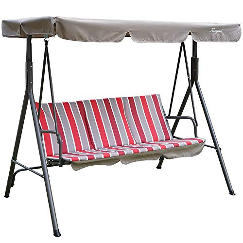 Kozyard Alicia Patio Swing Chair with 3 Comfortable Cushion Seats and Strong...