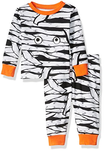 The Children's Place Baby Boys' Long Sleeve Top and Pants Pajama Set, Mummy/White 65580, 9-12 Months