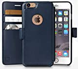 LUPA iPhone 7 Wallet Case, Durable and Slim, Lightweight with Classic Design & Ultra-Strong Magnetic Closure, Faux Leather, Navy Blue, Apple 7 (2016)