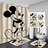 xingyundeshoop Cortina De Ducha-Mickey Mouse De Dibujos Animados Impermeable...