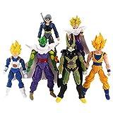 6 Piezas Anime Dragon Ball Z Articulación Móvil Piccolo Son Gohan Trunks Vegetto Cell PVC Figuras De Acción Juguetes Modelo Muñeca 12,5-17 Cm