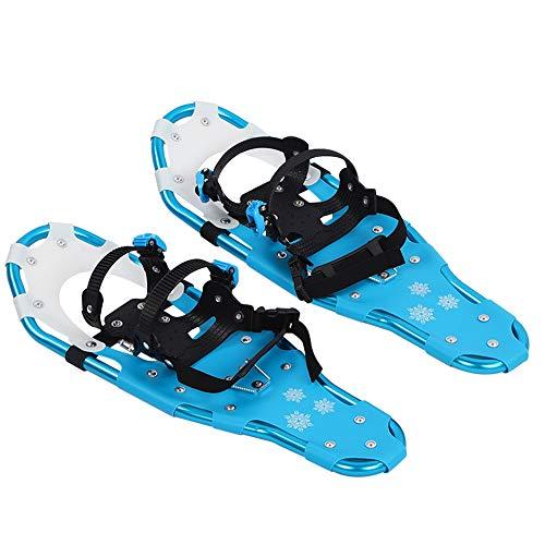Keenso Zapatos de Nieve de 25 Pulgadas Raquetas de Nieve de montañismo Zapatos de Senderismo en la Nieve Marco de Aluminio Ligero Caminar Flexible con Hebilla