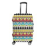 Ruchen - Funda para maleta, colorida, tribal, étnico, abstracto, geométrico, para...