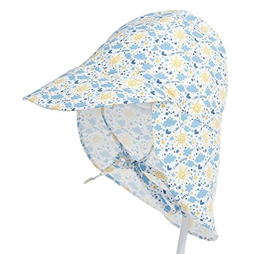 Sombrero para el Sol UPF50 + Anti-UV Sombrero de Cubo Unisex para bebé Transpirable Sombrero para el Sol para recién Nacido de Verano - 8,2 a 5T
