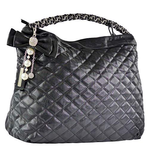 Friis & Company Tasche Damen Handtasche Tragetasche Somma Bag Black (B51 x H39 x T13 cm)