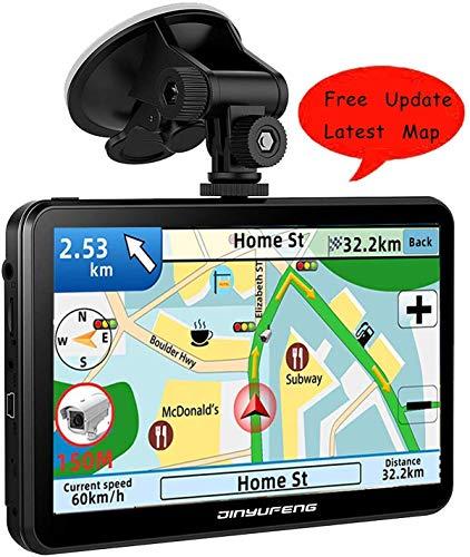 Navigatore Satellitare Auto,GPS Navigatore 7 pollici,8 GB, 256 MB,Avviso Traffico Vocale, Limite di Velocit Promemoria Sistema di con Aggiornamenti Gratuiti a vita Della Globale Mappa
