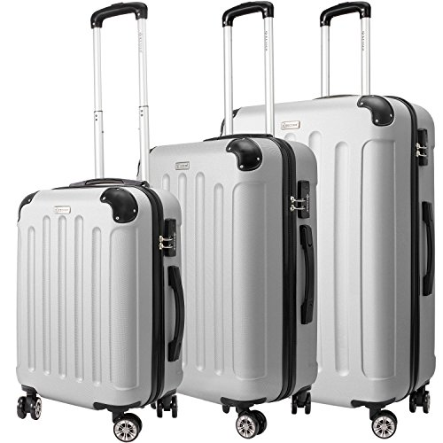 KESSER® 3tlg. Reisekoffer Hartschalenkofferset Hard Shell Basic Hartschalenkoffer Trolley Koffer Reisekofferset Gepäck...