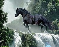 木製パズル滝の馬子供大人用1500ピース 87x57cm