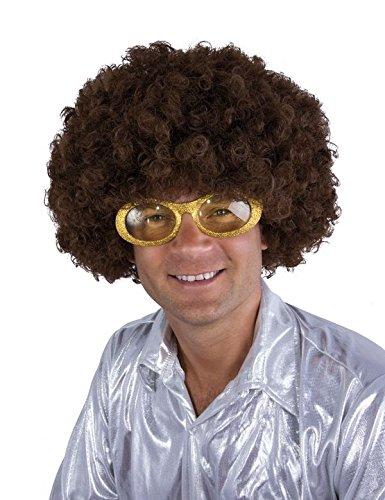 P 'tit Clown 64470 pruik Willy – Afro – bruin, eenheidsmaat