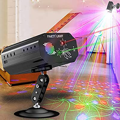 Disco Lights Party Lights GEELIGHT Sound Activated DJ Light with Remote Control Mini Stage Lights Strobe Projector for Club Home Party Ballroom Bands Wedding Show Bar Karaoke KTV