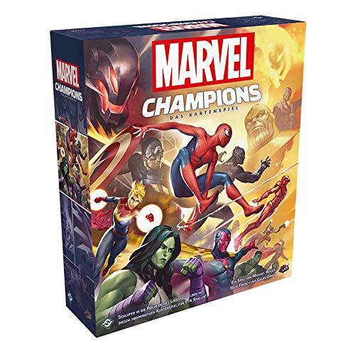 Asmodee Marvel Champions: Das Kartenspiel, Grundspiel, Deckbau, Deutsch