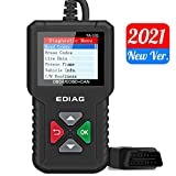 EDIAG OBD2 Scanner YA-101 Car Code Reader for Check Engine Light,O2 Sensor and EVAP Test, On-Board Monitor Test Mode 6,Smog Check,OBD2 Diagnostic Scan Tool for OBD2 Protocol Vehicles Since 1996