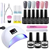Lagunamoon Gel Nail Kit With 36W Nail Dryer 6pcs Gel Nail Polishes