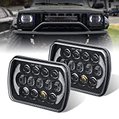 DOT approved,legal on the road,simple installation,plug and play,usually in 15 minute.Size:7.8(length) x5.5(width) x2.6(depth) inch. Voltage:10-30V,Lumens:6500lm for high beam/pcs,4500lm for low beam/pcs.Definately brightest 5x7 led headlight in the ...
