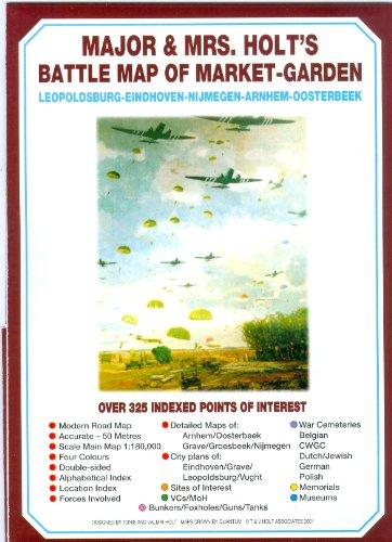 Major and Mrs Holt's Battle Map of Arnhem (Market-Garden): Leopoldsburg-Eindhoven-Nijmegen-Arnhem-Oosterbeek