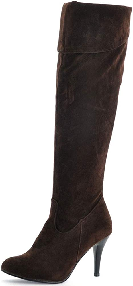 Vimisaoi Knee High Boots for Ranking TOP12 Stiletto Women Heels Side Zip Denver Mall