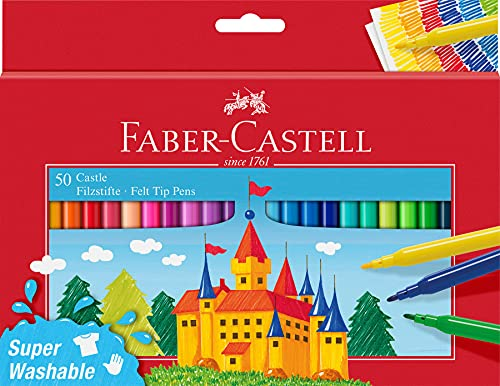 Faber-Castell 554204 - Estuche cartón con 50 rotuladores escolares