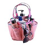 Bolsa de asas del carrito de la ducha Bolsa de playa de malla de ducha, bolsa de ducha de secado rápido, artículos de tocador colgantes y bolsa de almacenamiento de baño para champú y otros accesorios