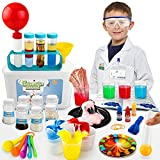 Sillbird Science Kits for Kids 4-6, 38 Experiments and Lab Coat, DIY STEM Projects Chemistry Set, Educational Toys Kit Gifts for Boys & Girls Aged 3 4 5 6 7 8 (66 Pieces)