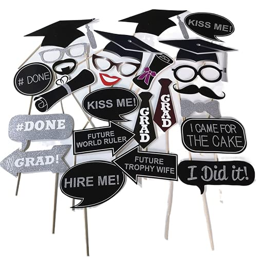 45 decorazioni per laurea 2021 per foto di laurea e bottega di laurea (20 pezzi di scena, 0317)